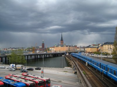 Dark skies over Gamla Stan