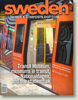 Transit Museum, museums in transit, Nationaldagen, and the studentflak