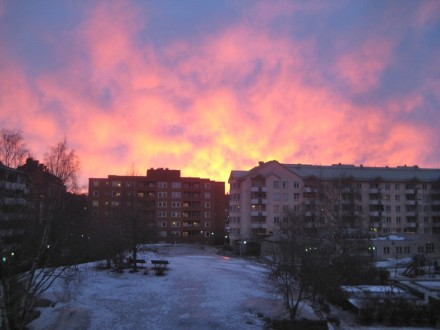 Sunset on March 27, 2011, 6:45 pm