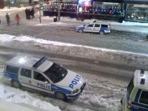 swedish volvo police cars