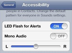 iphone LED camera flash alerts