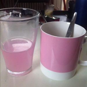 Manly breakfast beverages.