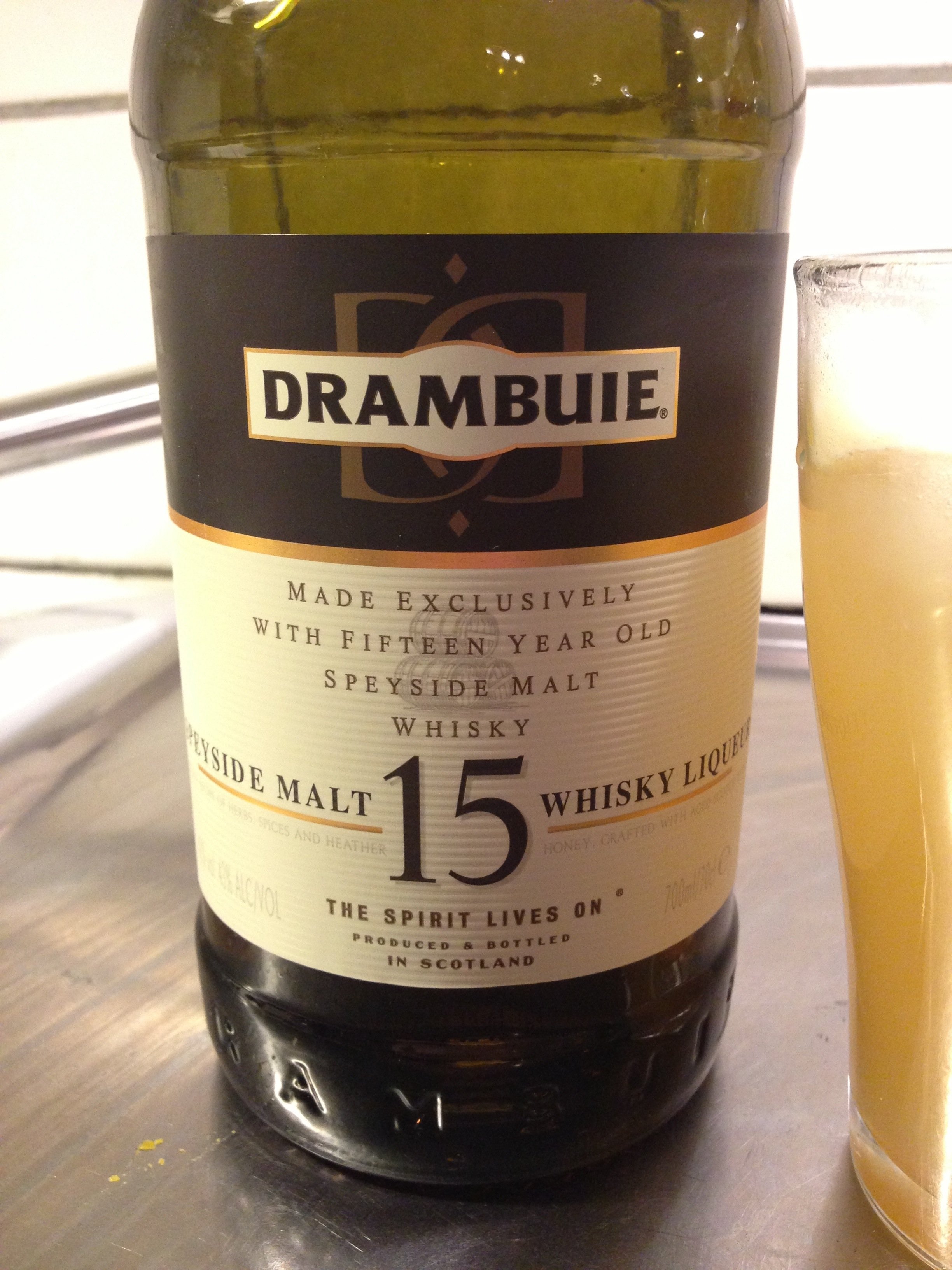 The newer blend, Drambuie 15, is a stronger, more whiskey-is..