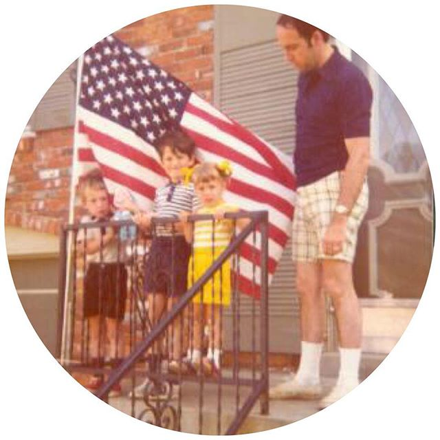 Flashback 4th of July in Middletown, Kentucky. That's me on the left with Talking Baby Beans.