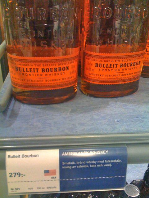 Bulleit bourbon Sweden