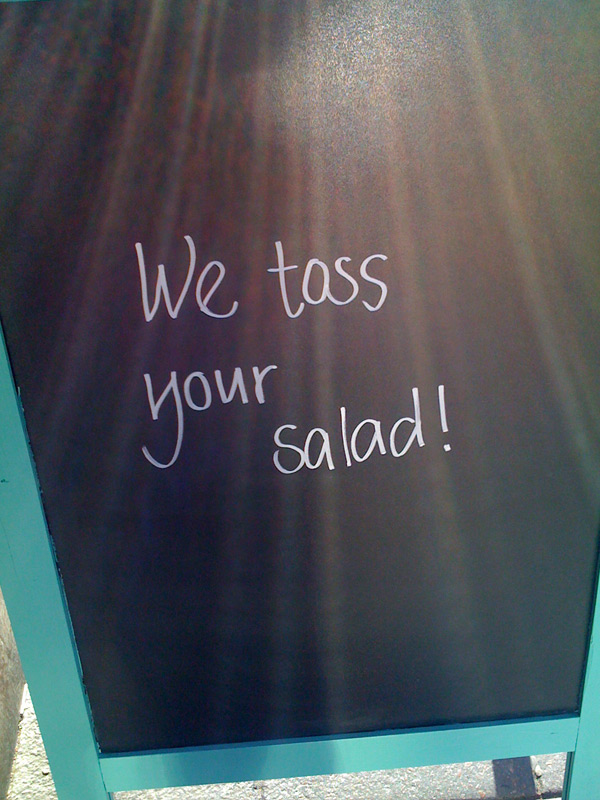 we toss your salad