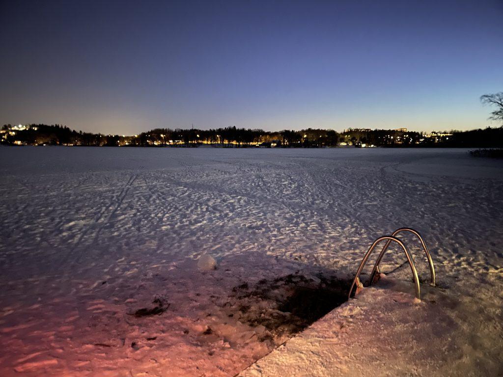 Sköndal Sweden Drevviken frozen
